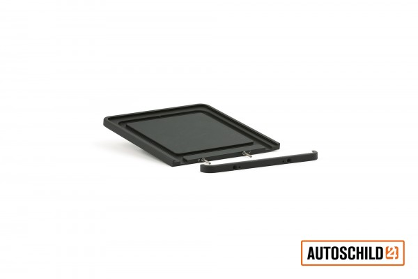 Kennzeichenhalter Aluminium, schwarz-matt-pulverbeschichtet