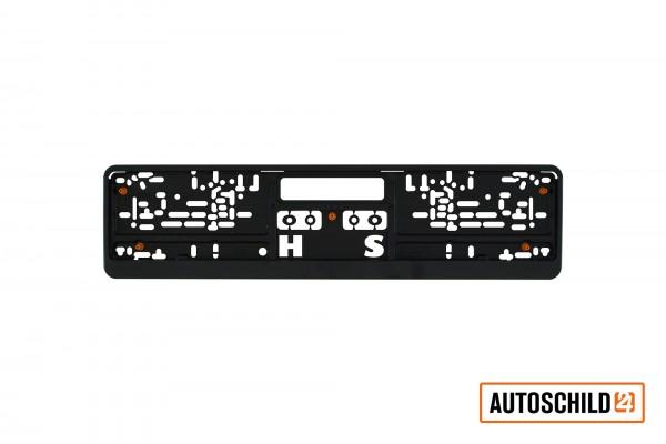 Kennzeichenhalter Kunststoff 520 x 110 mm